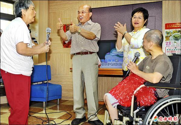 【自由時報】蘇訪身障族群 共度端午 代表圖