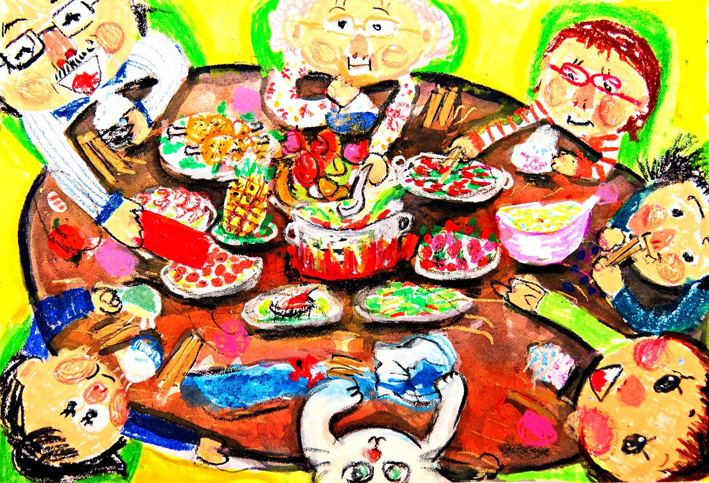 兒童組-第二名 家家都有團圓飯