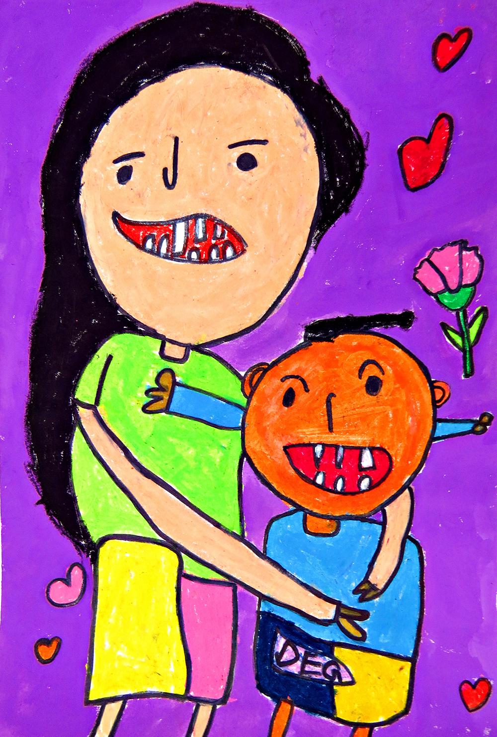 兒童組-佳作獎 天天母親節