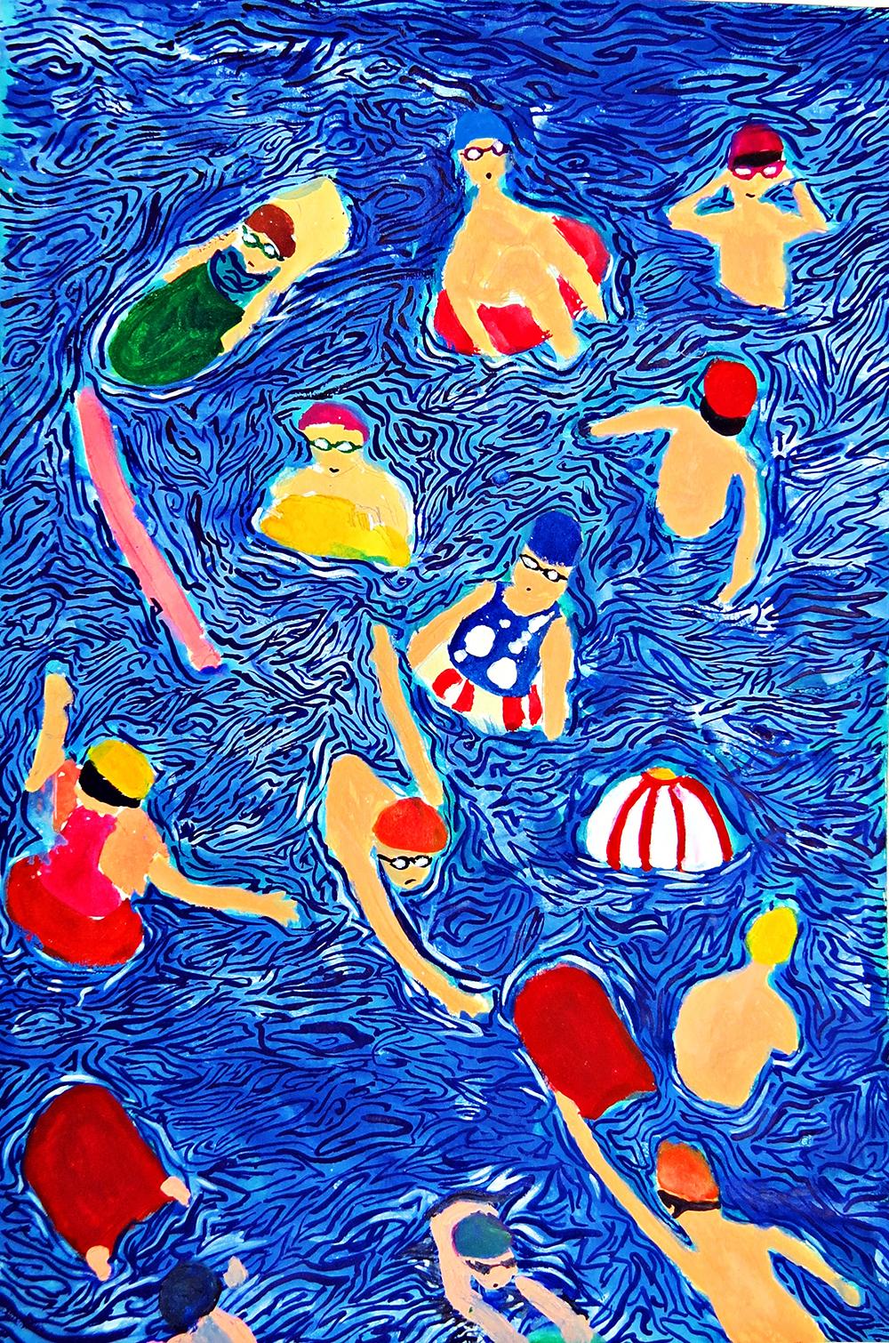 青少組-佳作獎 夏日游泳季