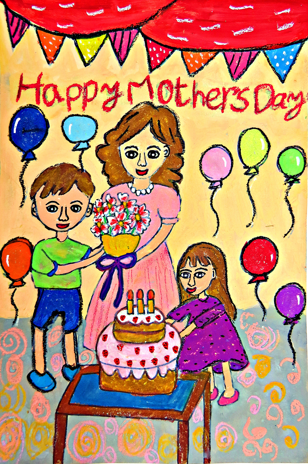 兒童組-第三名 幸福母親節