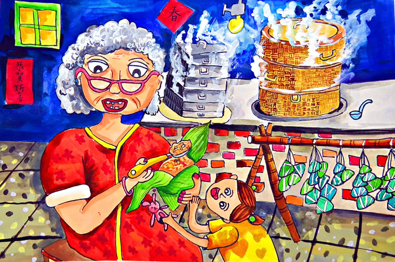 兒童組-第一名 端午肉粽香