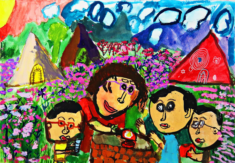 兒童組-佳作獎 幸福的節日-假日的露營野炊
