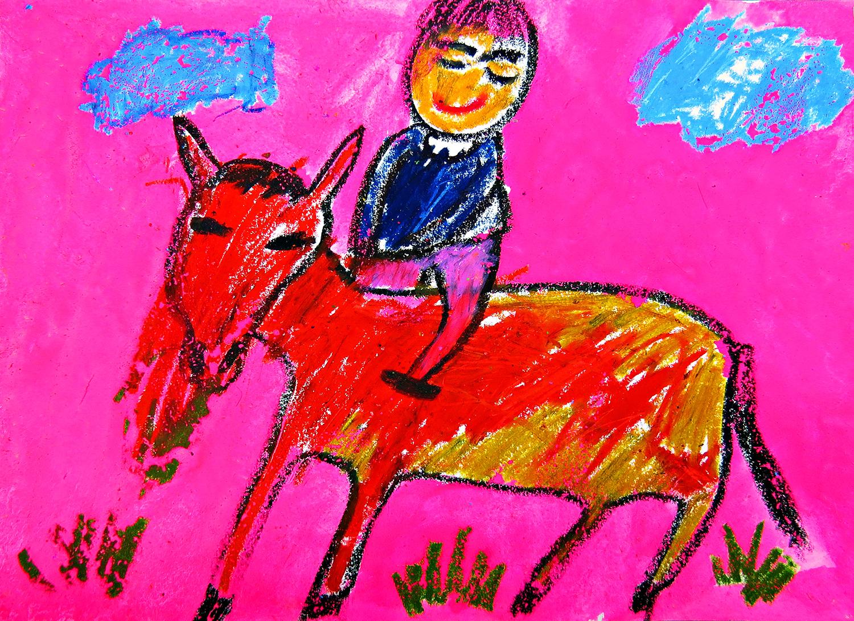 兒童組-入選獎 馬兒背上的躍動