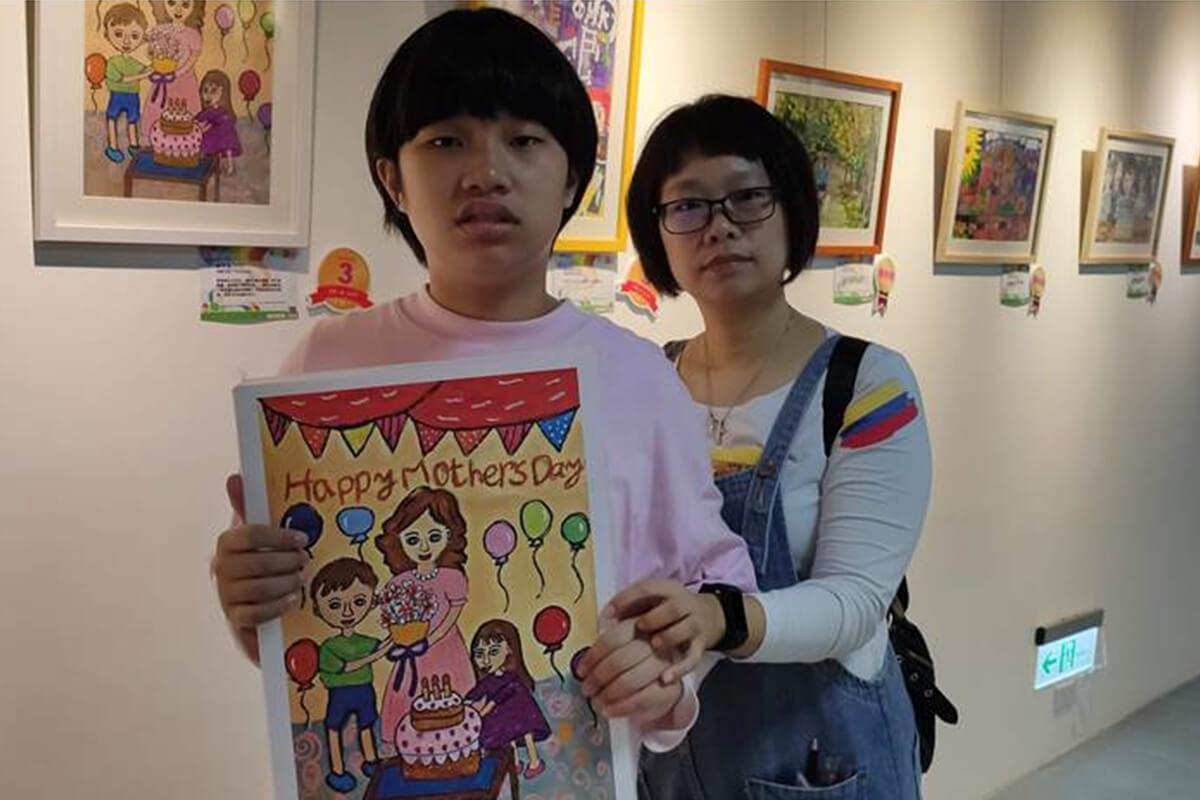 【中時新聞網】自閉症童一張圖畫3個月 獲育成繪畫獎 代表圖